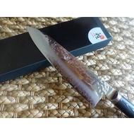 粉末鋼SG~2。雙人牌雅MIYABI~超高硬度龍紋鋼折疊鋼-MIZU系列~8吋主廚刀~