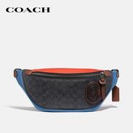 COACH Rivington Belt Bag In Colorblock Signature Canvas With Coach Patch CO962 JIQUA กระเป๋าสะพายข้าง