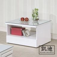 【凱迪家具】M25-B291-04凱特白色玻璃小茶几/桃園以北市區滿五千元免運費/可刷卡