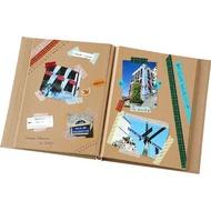 日本NCL 素面原木色簡約卡其內頁A4自黏黏貼相本/相簿 (A4-161-KR) -活頁可加頁