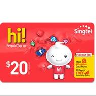 Singtel Prepaid E-Top Up $20