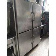 四門不鏽鋼管冷冰箱 上凍下藏
