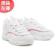 FILA RAY 女鞋 老爹鞋 休閒 雷射 白 粉【運動世界】4-C101T-115 / 4-C114T-115【現貨】