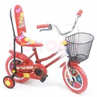 台灣製造12吋童車,椅背型,紅色,發泡胎