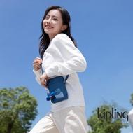 【KIPLING】優雅天穹藍可愛長方形小包-TALLY