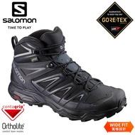 SALOMON 索羅門 男 X ULTRA 3 GTX中筒登山鞋W《黑/墨黑/石灰》/401293/防水越野鞋