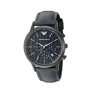ARMANI AR2481  時尚刻紋設計 三眼計時錶款  真皮錶帶 錶現精品 原廠正品