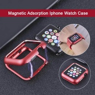 Hot Magnetic Adsorption Metal Frame Protective Case for Apple Watch 38MM 42MM Series 1 2 3 for Apple Watch 4 5 40MM 44MM Cover Bumper