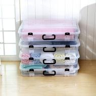 床底儲物箱 塑膠透明床底收納箱整理箱衣櫃衣物衣服棉被儲物箱手提床底滑輪箱『SS219』