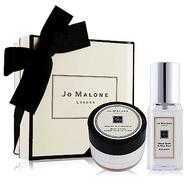 Jo Malone 經典潤膚香氛禮盒[鼠尾草與海鹽香水9ml+含羞草潤膚霜15ml]