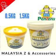 PENTENS Putty Filler Putty Filler / Cellulose Wall Filler / Filler Dinding / Lubang / HOLE 0.5KG / 1.5KG