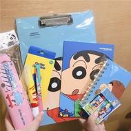 韓國蠟筆小新文具套裝卡愛創意記事筆記本子筆袋蠟筆學習禮盒