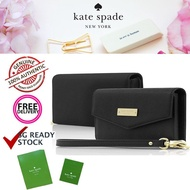 Kate_spade New York Saffiano Leather Large wristlet Wallet