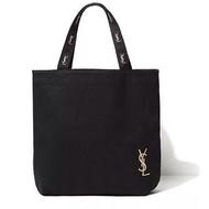 日本雜誌ysl贈品拉鏈款帆布包刺繡單肩手提包手提袋agnes b.vivi日雜揭載snidel托特包手提包贈品包購物袋