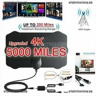 5000英里範圍高清電視天線4K高清室內數字電視天線信號放大器