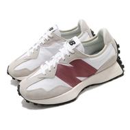 New Balance 休閒鞋 327 潮流 網美 女鞋 厚底 增高 乾燥玫瑰 米白 珊瑚紅 WS327CDB