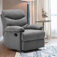 Massage Recliner Chair, Adjustable Fabric Recliner Chair Padded Seat, Ergonomic Microfiber Sofa with Remote Massage Control, Bedroom Living Room Chair Modern Recliner Seat Home Theater Seating Gray