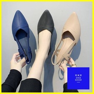 รองเท้าแตะ ร้านแนะนำรองเท้ายางคัชชู รุ่นรัดส้น TX280 รองเท้าส้นตึกสำหรับผู้หญิง แบบซิลิโคน ยืดหยุ่น ไม่กัดเท้า รองเท้า