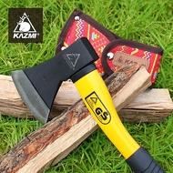 【露營趣】KAZMI 附保護套 K5T3T010 經典民族風手斧 (紅色) 營斧 斧頭 替代鐵鎚