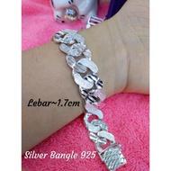 Silver Bangle 925*Bangle Perak Tulen*
