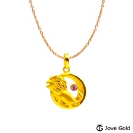 Jove Gold 漾金飾 獅子座黃金墜子 送項鍊