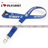 UGG Flight | Europe Airbus Logo Civil Aviation Flight Unit Air Crew Boarding ID Card Lanyard