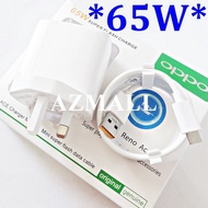 charger adapter ♧(65W) 10V/6.5A SuperVOOC Adapter 2in1 Charger Type C USB Cable Set Oppo Ace2 Reno5 Pro Reno4 SE Reno 5