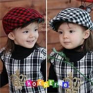 kocotree◆韓系蘇格蘭格紋經典百搭格子氣質兒童貝雷帽