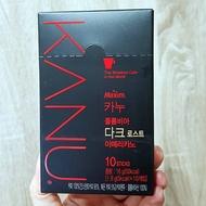 韓國Maxim KANU無糖深焙黑咖啡,每盒1.6g* 10入~即溶香醇黑咖啡,孔劉代言