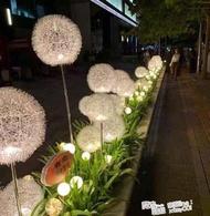 led太陽能蒲公英燈銅線圓球蘆葦燈插地戶外花園草坪燈庭院景觀燈