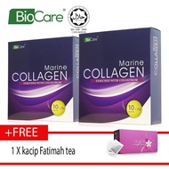 Biocare Marine Collagen X2 boxes Free kacip fatimah tea