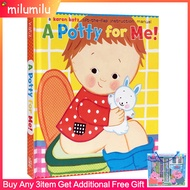 Children Books Karen Katz A Potty Time for Me! English Activity Books for Kidsหนังสือนิทาน