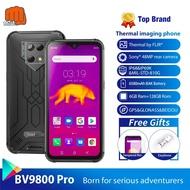 Blackview IP68 สมาร์ทโฟน 6580mAh 48MP + 16MP + 5MP Super AI Triple กล้อง 6GB + 128GB 6.3 ''FHD + Grobal 4G โทรศัพท์มือถือ BV9800 Pro