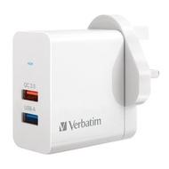 威寶 - [超抵玩齊認証] 25W 雙插頭 QC 3.0 USB充電器 雙端口 符合香港機電工程署標準