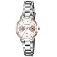 【LICORNE】力抗錶 花漾時光雙眼手錶(銀/白 LT143LTWI)