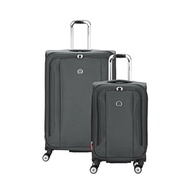 DELSEY Paris Delsey Luggage Aero Soft 2 Piece Spinner Luggage Set, Platinum