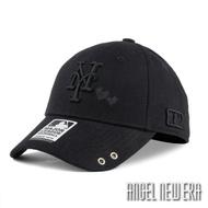 【MLB Old Fashioned Cap】大都會 NY 黑 老帽 愛心 人字布 鴨舌【ANGEL NEW ERA 】