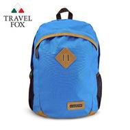 【TRAVEL FOX 旅狐】休閒豬鼻系尼龍後背包(TB671-77 藍色)