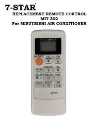 REPLACEMENT REMOTE CONTROL MIT302 For Mitsubishi Aircon Remote Control (Non-Inverter) Plug & Play