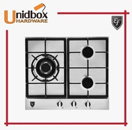 EF HB AG 360 VS A 58CM Stainless Steel Gas Hob/EF/3 Burners/Kitchen Appliances/Cooking Hobs/Gas