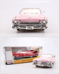 美琪 汽車模型 美馳1:18仿真合金車模圖1959年凱迪拉克貓王老爺車汽車模型收藏