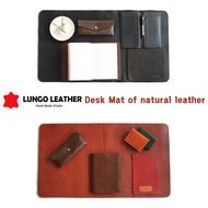 Desk mat,Leather desk mat,Natural cowhide desk mat.
