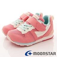 日本月星Moonstar機能童鞋HI系列寬楦頂級學步鞋款2121S24玫瑰粉(中小童段)SUPER SALE樂天購物節