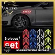 3D Carbon Sticker Car Sticker Reflective Mask Reflective Scoop