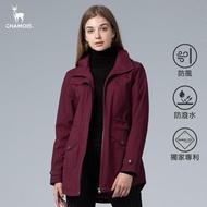 【Chamois】石墨烯xDamas-Tex 商務機能修身風衣外套(棗紅)