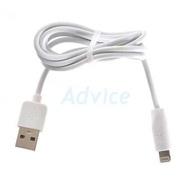 HOCO Adapter USB Charger + Lightning Cable (C2) สายชาร์จ White