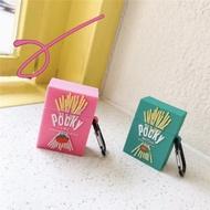 Pocky百吉巧克力棒 草莓 抹茶 airpods1/2代通用  3代pro藍芽耳機保護套台灣現貨