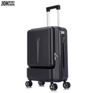Johnn กระเป๋าเดินทาง20 24 กระเป๋าเดินทางด้านหน้าเปิดกระเป๋าลากกระเป๋าเดินทางหญิง 20 นิ้วผู้ชายการขึ้นเครื่องบินธุรกิจกระเป๋าล้อลากสากล [คลังสินค้าพร้อม-คุณภาพสูง]