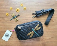 KIPLING HALIMA CROSSBODY BAG  DRAGONFLY  print design by Christine Lau