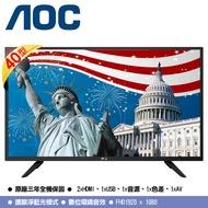 【AOC】 40吋 FHD LED 液晶 顯示器 40M3080